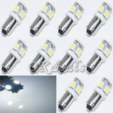 10 Stück T11 BA9S weiß 5050 SMD 5 LED Seitenlicht Birne Lampe für Auto 12V Neu