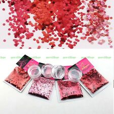 40G/SET Red Wine Gradient Glitter Sequins For Nail Art Tips Decoration UV GEL