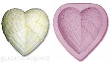 CUORE ALI D'ANGELO #2 GRANDE Craft Sugarcraft SCULPEY STAMPO IN SILICONE GOMMA