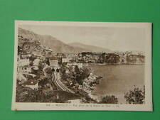 MONACO la Route de Nice train ferrovia France old postcard