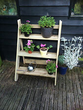 wooden plant stand outdoor garden unit 3 step