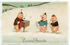 cochons.humanisés.chanteurs.orgue de barbarie.pigs.humanized.barrel organ.singer
