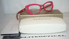 New Authentic Versace Pink/Red Eyeglasses VE3223 5167 53 140