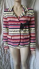 Odd Molly 233b multicoloured stripe cotton knitted jacket cardigan size 3