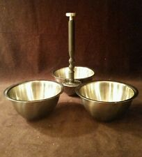 Vintage Oneida Custom 18/8 Stainless 3 Condiment Bowls W/Handle Japan