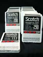 "Lot of 21 Unused Living Letters Scotch 3M Magnetic Tape 1/4"" 3"" Reels 300' 600'"