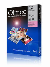 Olmec 260gsm Photo Lustre Inkjet Paper A4/50 Sheets