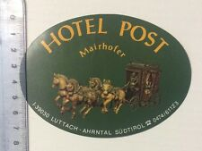 Aufkleber/Sticker: Hotel Post - Mairhofer (04031673)