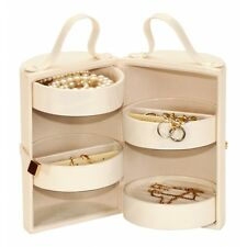 Golden Pearl Iris Leatherette Jewellery Box Case Ladies Gift 20317