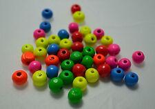 50 perles en bois brillant 8mm couleur mixte 8 mm perle, bijoux, bracelet