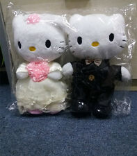 "Hello Kitty Couple Lover Wedding Dress Soft Plush Doll Toy 2PCS Big 12"" Gift"