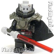 SW265 II - Lego Sith Lord Warrior Minifigure with Armor & Darth Vader Head - NEW
