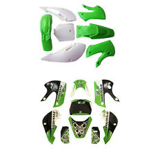 Green Fairing Plastic Decal Graphics Kit For kawasaki KX65 KLX110 Dirt Pit Bike