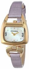 Romanson Women's RN1206QL2GM11G Modern Swiss Quartz Crystal Markers Watch
