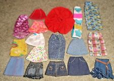 BARBIE DOLL CLOTHES - 17pc SET of ASSORTED AGE SKIRTS