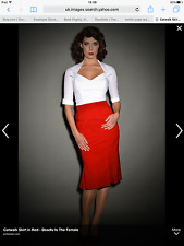 Tatyana Bettie Page Clothing Red XXL Cat Walk Skirt