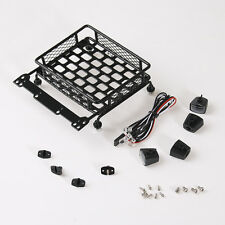 1:10 RC Roof Luggage Rack LED Light Bar Rock Crawler For Tamiya CC01 SCX10