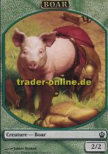 2x Token - Boar (Spielstein - Wildschwein) Theros Magic