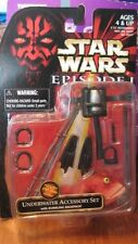 "NEW STAR WARS EPISODE 1 UNDERWATER ACCESSORY SET W/ BUBBLING BACKPACK 3 3/4"" FIG"