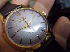 super  gents hmt sona gold plated 17 jewels hand wind watch