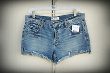 NWT FREE PEOPLE Size 28/29/30 Button Fly Denim Short Shorts Queen Wash