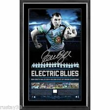 NEW SOUTH WALES 2014 STATE OF ORIGIN PAUL GALLEN SIGNED LIMITED LITHOGRAPH