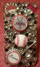Atlanta Braves MLB bling case iPhone 4s,5,5s,5c,6,Samsung Galaxy S3,S4&S5