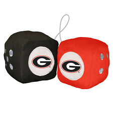 "Georgia Bulldogs 3"" Plush Fuzzy Dice"