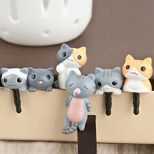 6pcs 3.5mm Anti Dust Earphone Jack Plug Stopper Cap For Mobile phone Cute Cat