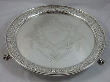 Attraente, vittoriano argento Salver, 1895, 901gm