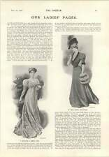 1906 Miss Natalie Grant During Actress Tea Gown In The Empire Style
