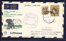 53755) LH FF München - Johannesburg 7.4.68, SoU ab Jugoslawien