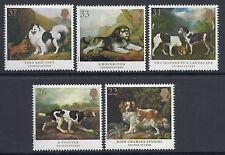 1991 GB SG1531-SG1535 DOG PAINTINGS BY GEORGE STUBBS FINE MINT SET OF 5  MNH/MUH