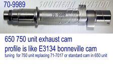 Triumph Ex Camshaft 70-9989 replace E10041 E5047 E4848 Tuning 750 half race cam