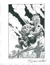 BERNI WRIGHTSON werewolf 1978 NCS PORTFOLIO hand signed & numbered lithograph