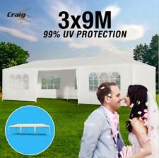 PVC 3x9m Wedding White Outdoor Marquee Tent Party Steel Gazebo Canopy Folding