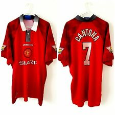 Manchester United Cantona Home Shirt 1996. Large. Umbro. Red Adults Man Utd Top.