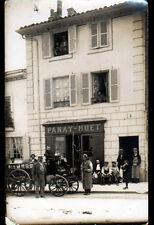 """MACON (71) ATTELAGE animé au COMMERCE de GRAINS & FARINES """"PANAY-HUET"""" en 1913"""