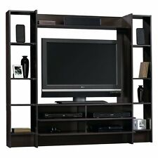 Flat TV Stand Entertainment Center Media Cabinet Storage Wall Unit Wood Shelves