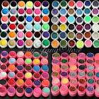 12/36 Pure Glitter Mix Color Acrylic UV Gel Builder Set Nail Art Manicure Decor
