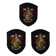 Harry Potter Series House Gryffindor Shield Crest Embroidered Patch Set of 3
