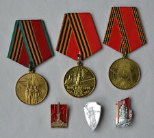 USSR Army medal Lot of 6 Soviet Russian military victory WW2 order badge vintage