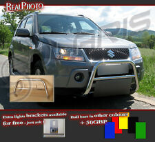 SUZUKI GRAND VITARA 06-14 LOW BULL BAR WITHOUT AXLE BARS +GRATIS!STAINLESS STEEL