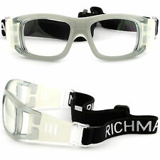 Large Mens Womens Sports Protection Prescription Goggles Glasses Basketball Gray