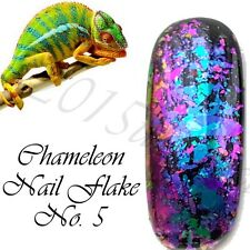 Chameleon Nail Flakes Mirror Chrome Powder Colour Changing Rose Gold Sequins UK
