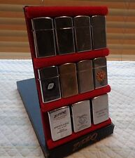 1950s-1960s Zippo Salesman Display Red Felt Flip Top Like Slim Dennison Box RARE