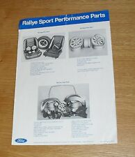 FORD SPORT RALLYE Performance Parts Flyer & Dealer guida 1970-RS1600