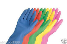 REUSABLE HOUSEHOLD RUBBER GLOVES FOR WASHING, CLEANING, GARDENNING/CHEMICALS