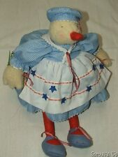 BUNNIES BY THE BAY and friends Leggy Peggy duck patriotic collectors