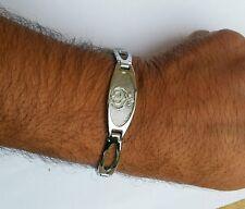 Lovely Silver Plated Punjabi - Sikh Singh Khanda Bracelet - Metal - Unisex Gift